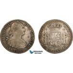 AD283, Mexico, Charles IV, 8 Reales 1803 Mo FT, Mexico City, Silver, Toned VF