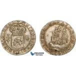 AD286, Netherlands, Batavian Rep. 1/4 Gulden 1802, Silver, Lustrous AU