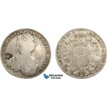 AD287, Netherlands East Indies, Madura Island, Sultan Paku Nata Ningrat, Ducaton ND (1811-54) countermarked Madura Star on Maria Theresia Taler 1754, Hall, Silver, Cleaned F-VF, c/s Strong