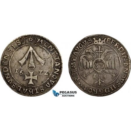 AD308, Germany, Stralsund, Taler (32 Schilling) 1622, Silver (28.26g) Toned VF, Rare!