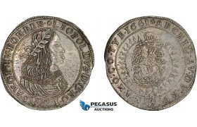 AD309, Hungary, Leopold, 15 Krajczar 1661 KB, Kremnitz, Silver (5.79g) H. 1419 (R15) Extremely Rare!