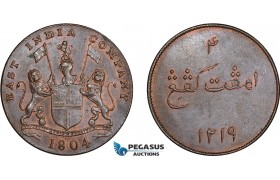 AD310, Netherlands East Indies, Sumatra, 4 Kepings AH1219 / 1804, Soho, Cleaned AU