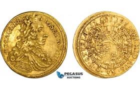 AD318, Austria, Josef I, Ducat 1706, Graz, Gold (3.48g) Her. 33, VF-EF, Very Rare!