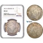 AD340, France, Napoleon, 5 Francs 1811-A, Paris, Silver, NGC MS62