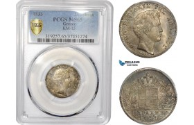 AD370, Greece, Othon, 1 Drachma 1833, Munich, Silver, PCGS MS65