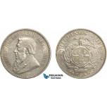 AD404, South Africa (ZAR) 5 Shillings 1892, Berlin, Silver