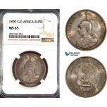 AD463, German East Africa (DOA) Wilhelm II, 1 Rupie 1890, Silver, NGC MS65