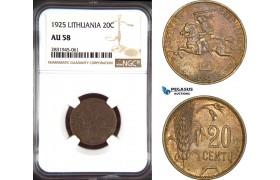 AD469, Lithuania, 20 Centu 1925, NGC AU58