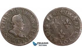 AD570, France, Henri IV, Double Tournois 1580, Paris, VF