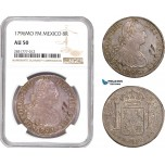 AD678, Mexico, Charles IV, 8 Reales 1796 Mo FM, Mexico City, Silver, NGC AU50