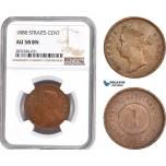 AD701, Straits Settlements, Victoria, 1 Cent 1888, NGC AU58BN