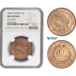 AD852, France, Third Republic, 10 Centimes 1882-A, Paris, NGC UNC Det.