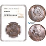 AD867, Great Britain, Victoria, 1 Penny 1900, NGC MS64BN