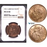 AD868, Great Britain, George V, 1 Penny 1921, NGC MS64RB