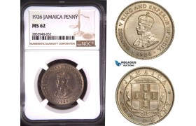 AD876, Jamaica, George V, 1 Penny 1926, London, NGC MS62