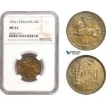 AD886, Lithuania, 50 Centu 1925, NGC MS64