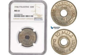 AD902, Palestine, 10 Mils 1946, London, NGC MS61
