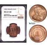 AD916, Straits Settlements, Victoria, 1 Cent 1903, NGC MS63+ RB