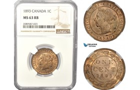 AD945, Canada, Victoria, 1 Cent 1893, NGC MS63RB