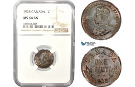 AD946, Canada, George V, 1 Cent 1925, NGC MS64BN