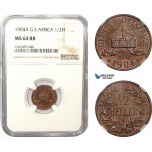 AD954, German East Africa (DOA) 1/2 Heller 1904-A, Berlin, NGC MS64RB