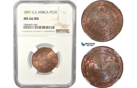 AD955, German East Africa (DOA) Pesa 1891, Berlin, NGC MS66BN