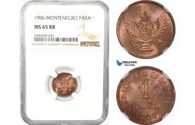 AD970, Montenegro, Nicholas I, 1 Para 1906, NGC MS65RB