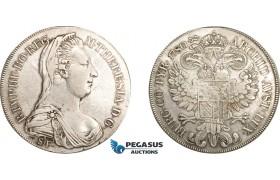 AE001, Austria, Maria Theresia, Taler 1780 SF/ST, Milan, Silver (27.57g) Hafner 35a, Cleaned VF
