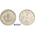 AE007, China, Manchuria, 20 Cents ND (1914-15) Silver, L&M 493, AU