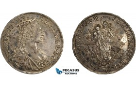 AE029, Hungary, Maria Theresia, 1/2 Taler 1752-KB, Kremnitz, Silver (14.08g) Toned XF