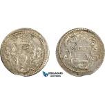AE035, Italy, Corsica, Pascal Paoli, 20 Soldi 1765, Silver (3.29g) Doazancf. 65/20 (R3) F-VF, Very Rare!