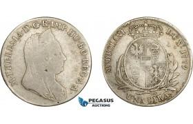 AE036, Italy, Lombardy, Maria Theresia, 1 Lira 1779, Milan, Silver (6.12g) F-aVF