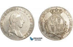 AE039, Italy, Lombardy, Joseph II, Scudo (6 Lire) 1784 LB, Milan, Silver (23.12g) Cleaned XF