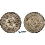 AE044, Japan, Meiji, Yen Yr. 24 (1891) Silver, Chop marked, XF