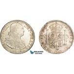 AE047, Mexico, Charles IV, 8 Reales 1803 Mo FT, Mexico City, Silver, VF-XF