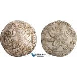 AE049, Netherlands, Gelderland, Lion Daalder 1643, Utrecht, Silver (26.93g) F-VF