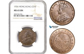 AE260, Hong Kong, George V, 1 Cent 1926, NGC MS65BN