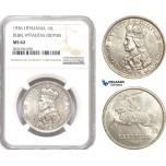 AE264, Lithuania, 10 Litu 1936, Silver