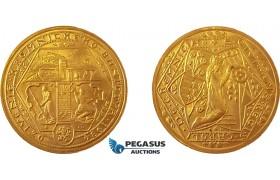 AE292, Czeckoslovakia, 10 Ducats 1934 / 1973 (Restrike) Gold (34.90g) Kremnica, UNC, Very Rare!