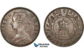 AF222, Canada, Newfoundland, Victoria, 1 Cent 1894, XF
