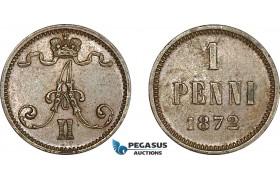 AF225, Finland, Alexander II. of Russia, 1 Penni 1872, AU