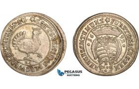 AF228, Germany, Sachsen-Henneberg, 2 Groschen 1692 BA, Ilmenau, Silver (3.67g) VF-XF