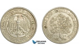 AE023, Germany, Weimar, 5 Reichsmark (Oak Tree) 1932-A, Berlin, Silver, AU