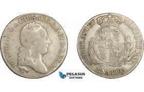 AE037, Italy, Lombardy, Joseph II, 1 Lira 1784 LB, Milan, Silver (6.15g) aVF