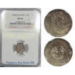 B59, France, Louis Philippe I, 1/4 Franc 1839-W, NGC MS65, Pop 1