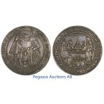 C11, German States, Hamburg, Wedding 1-1/2 Thaler ND (1536) Silver (41.98g) Ø 59mm (Huge)