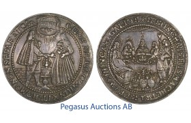 C11, German States, Hamburg, Wedding 1-1/2 Thaler ND (1536) Silver (41.98g) Ø 59mm (Huge)