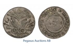 C25, Haiti Western Republic, 25 Centimes AN 12 (1815) Silver, Very Nice!