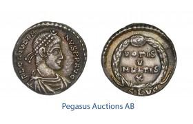 C56, Roman Empire, Julian II (360-363 AD) AR Siliqua (2.13g) Lugdunum, VOTIS