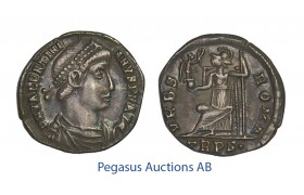 C57, Roman Empire, Valentinian I (364-375 AD) AR Siliqua (1.81g) Trier, VRBS ROMA